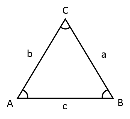 Epäsäännöllisen kolmion kulmien laskeminen